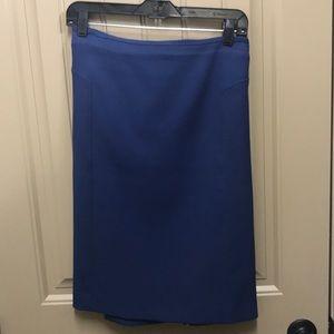 Halogen Royal Blue Ponte Knit Pencil Skirt 14